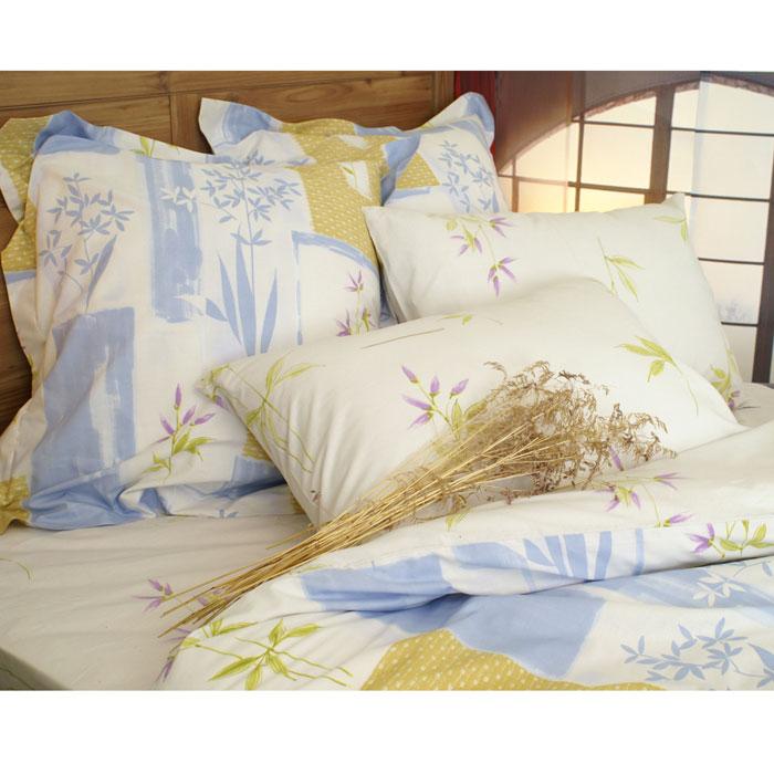 Комплект белья Апрель (2-х спальный КПБ, хлопок, 4 наволочки 50х70, 70х70)