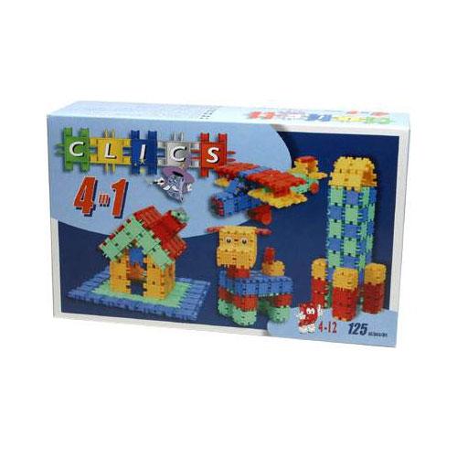 """Конструктор """"Clics (Кликс)"""" - отличный набор для всестороннего развития вашего ребенка. Этот конструктор поможет развить логическое мышление, мелкую моторику рук, воображение, фантазию. Особенность конструктора заключается в том, что он позволяет ребенку строить бесконечные забавные модели руководствуясь своей фантазией или по прилагаемой инструкции (домик, вертолет, ракету или собачку)."""