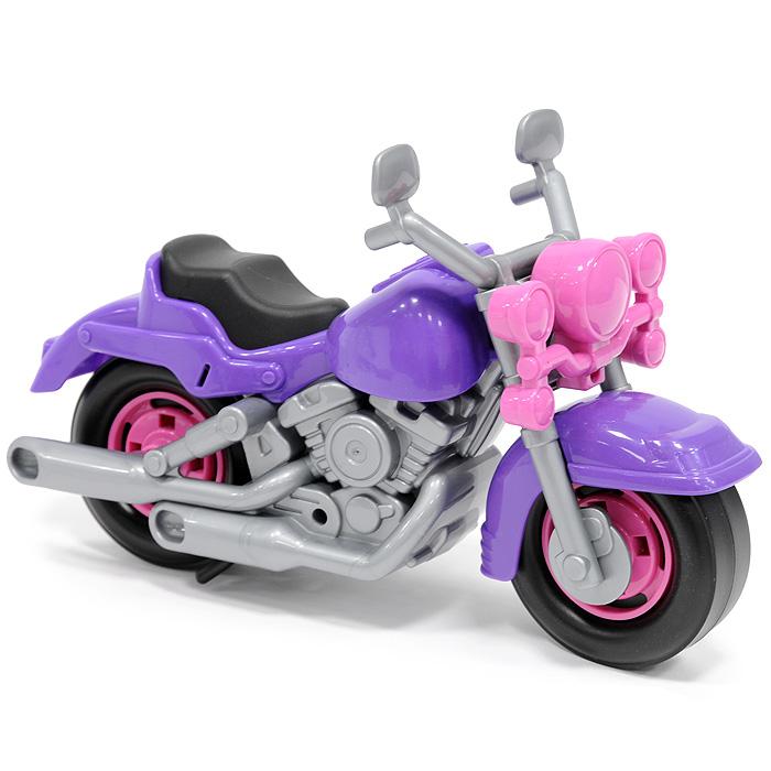 """Яркий гоночный мотоцикл """"Кросс"""" привлечет внимание вашего малыша и не позволит ему скучать, ведь так интересно и захватывающе покатать свой спортивный мотоцикл, или устроить гонку с другом. Колеса мотоцикла крутятся, а руль может поворачиваться. Порадуйте своего непоседу такой замечательной игрушкой!"""
