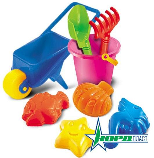 Набор для песка Нордпласт № 18, 8 предметов игрушки для мальчиков тачки