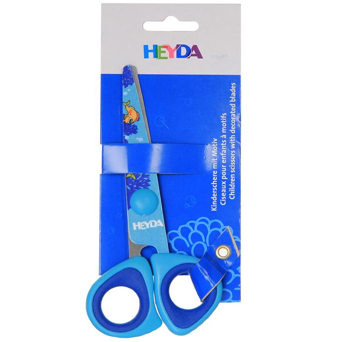 Ножницы детские Heyda, 14 см37910_сиреневый черный белый, 037910Детские цветные ножницы с безопасными закругленными концами и изображениями забавных рыбок помогут вашему ребенку работать безопасно и весело. Прорезиненные вставки позволяют увеличить время работы с ножницами. Характеристики: Размер ножниц: 14 см х 6,5 см х 1 см. Производитель: Китай.