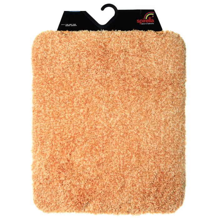 Коврик Gobi, цвет: оранжевый, 55 х 65 см391602Коврик для ванной комнаты Gobi оранжевого цвета выполнен из полиэстера высокого качества. Прорезиненная основа коврика позволяет использовать его во влажных помещениях, предотвращает скольжение коврика по гладкой поверхности, а также обеспечивает надежную фиксацию ворса. Коврик добавит тепла и уюта в ваш дом. Характеристики:Материал: 100% полиэстер. Размер:55 см х 65 см. Производитель: Швейцария. Изготовитель: Китай. Артикул: 1012530.