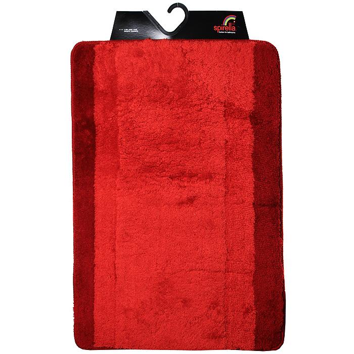 Коврик Balance, цвет: красный, 60 х 90 см12723Коврик для ванной комнаты Balance выполнен из акрила высокого качества. Прорезиненная основа коврика позволяет использовать его во влажных помещениях, предотвращает скольжение коврика по гладкой поверхности, а также обеспечивает надежную фиксацию ворса. Коврик добавит тепла и уюта в ваш дом. Хорошо переносит машинную стирку и отжим в центрифугах, а также подходит для полов с подогревом. Характеристики:Материал: 100% акрил. Размер:60 см х 90 см. Производитель: Швейцария. Изготовитель: Китай. Артикул: 1009213.
