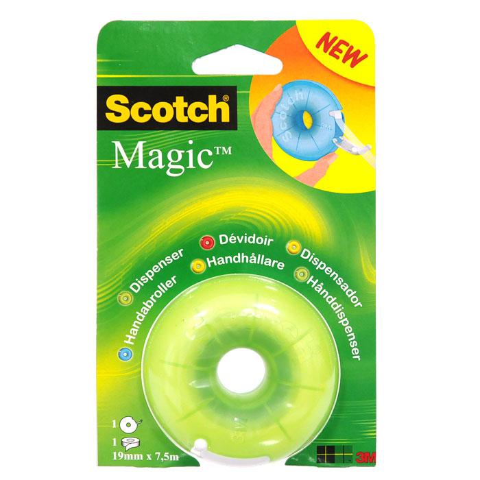 Диспенсер для клейкой ленты Scotch, цвет: салатовый600 3MВашему вниманию предлагается яркий, веселый и компактный диспенсер с лентой Scotch Magic внутри. Он герметично закрывается, защищая клейкую ленту, поэтому его очень удобно носить с собой. Подходит для клейкой ленты шириной до 19 мм и длиной до 33 м.Характеристики:Материал: пластик. Размер диспенсера: 7 см х 7 см х 3,5 см. Цвет: салатовый. Изготовитель: Китай.