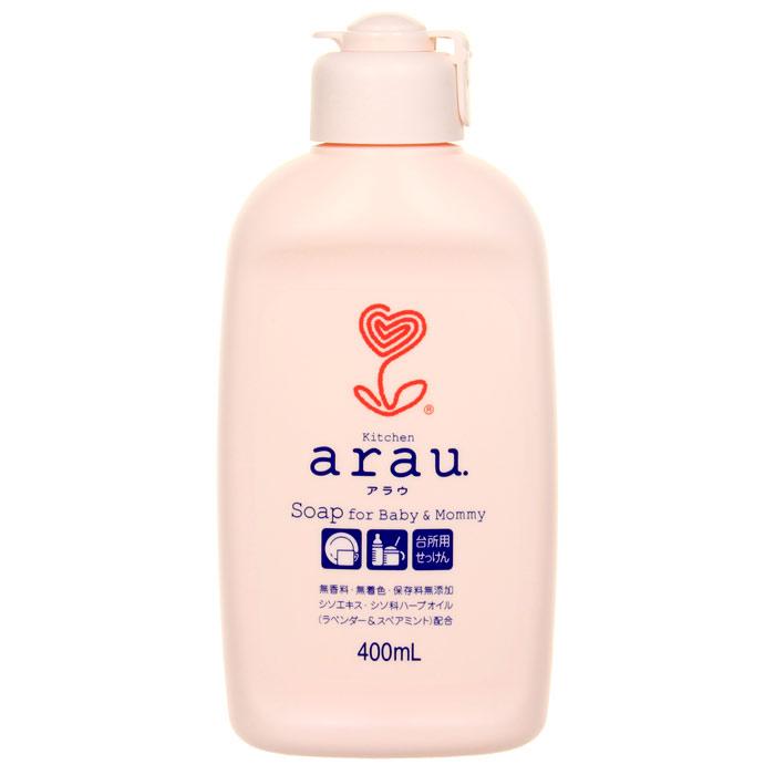 Жидкость для мытья детской посуды Arau Baby, 400 мл32011Жидкость для мытья посуды Arau не содержит консервантов, красителей или ароматизаторов, состоит из компонентов, полученных из натурального кокосового масла и прошедших тщательную очистку, что обуславливает превосходные моющие способности мыла. Натуральные масла растений семейства перилловых (лаванда и мята курчавая) придают посуде тонкий травяной аромат, создают ощущение чистоты на кухне, а также бережно ухаживают за кожей рук. Характеристики:Объем: 400 мл.Товар сертифицирован.