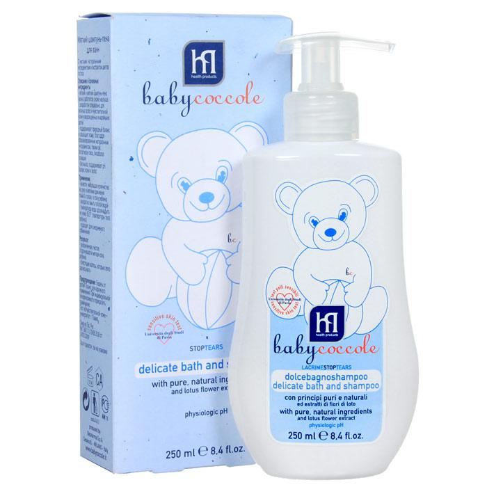 """Мягкий шампунь-пена """"Babycoccole. The Bath"""" с чистыми натуральными ингредиентами и экстрактом цветов лотоса. Легкий и мягкий шампунь-пена нежно заботится о коже малыша. Разработан специально для нежных волос и чувствительной кожи новорожденных и маленьких детей, особенно для детей первых месяцев. Поддерживает природный баланс и защищает кожу благодаря сбалансированным натуральным ингредиентам, таким как бетаглюкан овса, бисаболол ромашки, а также всей нежности экстракта цветов лотоса, без мыла, поддерживает рН баланс кожи и волос.   Характеристики:Объем: 250 мл. Товар сертифицирован."""