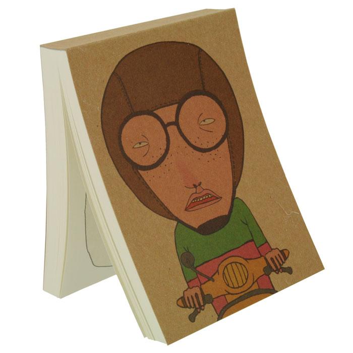 Блокнот Я мото!72523WDБлокнот Я мото! послужит прекрасным местом для памятных записей, любимых стихов, рисунков и многого другого. Обложка из плотного картона декорирована изображением забавного человечка на мотоцикле. Нелинованные страницы альбома оформлены изображением персонажа с обложки и его мыслями. Вы можете дорисовывать лицо человечку на каждой странице, и его настроение будет зависеть только от вашей фантазии! Характеристики:Материал: картон, бумага. Размер блокнота: 8 см х 11 см. Изготовитель: Китай. Артикул: 0961-RC100K-002N.