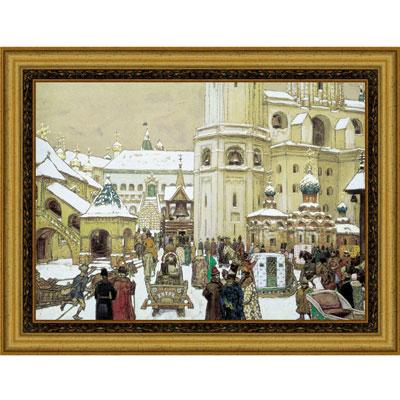 Постер в светлой раме Площадь Ивана Великого в Кремле, 50 х 41 см17071Картина для интерьера (постер) - современное и актуальное направление в дизайне любых помещений.Изображение нанесено на чрезвычайно плотную основу и обрамлено в багет. Технология изготовления арт-постеров подразумевает обязательную художественную ламинацию каждого изображения, что придает картине дополнительную ценность, а также защищает поверхность от загрязнения, повреждений, влаги и ультрафиолетовых лучей. Картина может использоваться для оформления любыхинтерьеров: дом, квартира (гостиная, спальня, кухня, прихожая, детская); офис (комната переговоров, холл, кабинет); бар, кафе, ресторан или гостиница. Картина является отличным подарком. Характеристики: Материал: дерево.Размер постера без рамы:37 см x 29 см.Размер постера в раме:50 см х 41 см.Производитель:Россия.Картина надежно упакована в пленку с противоударными уголками.
