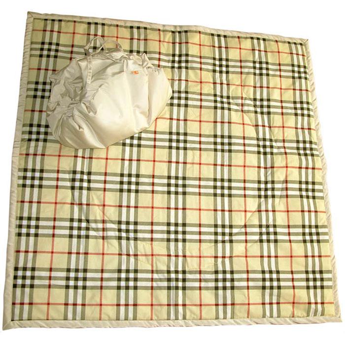 Коврик-трансформер  Шотландка , цвет: бежевый -  Сумки для мам