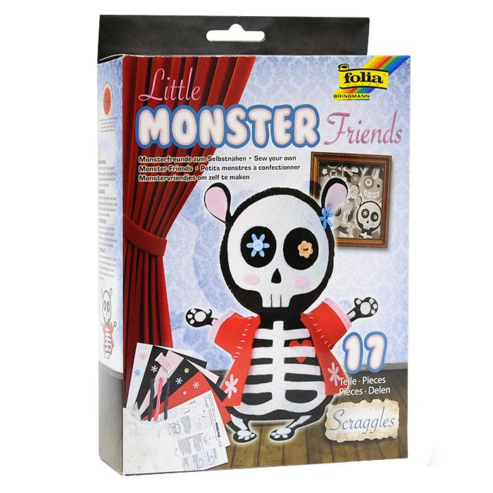 """С помощью набора """"Little Monster Friends: Чудовищные дружки"""" ваш ребенок сможет самостоятельно сделать забавную игрушку в виде очаровательной летучей мыши. В набор входят все необходимые аксессуары: войлок, цветные нитки, пуговицы и набивной материал. Игрушка, созданная своими руками, привлечет внимание окружающих и может стать отличным подарком друзьям и близким."""