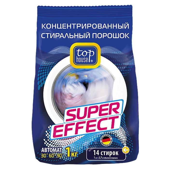 Порошок стиральный Top House Super Effect, концентрированный, 1 кг787502Концентрированный суперэффективный стиральный порошок Top House Super Effect разработан по современной технологии с учетом рекомендаций ведущих производителей, специально для автоматических стиральных машин. Особенности порошка Top House Super Effect: предназначен для стирки белого и цветного белья обладает усиленной моющей способностью эффективно отстирывает любые виды загрязнений специально разработан для использования в машинах-автаматах содержит вещества, препятствующие образованию накипи придает белью приятный свежий аромат экономичен в использовании. Характеристики:Вес: 1 кг.Производитель: Германия.Товар сертифицирован.Немецкая торговая марка Top House производит бытовую химию и аксессуары, специально разработанные для ухода за бытовой техникой. Продукция произведена по новейшим технологиям и соответствует высочайшим стандартам качества.