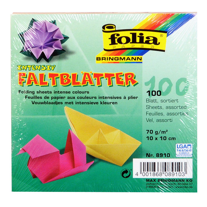 Набор специальной цветной бумаги для оригами содержит 100 листов разного цвета, которые помогут вам и вашему ребенку сделать яркие и разнообразные фигурки. В набор входит бумага десяти цветов: желтого, оранжевого, розового, красного, фиолетового, голубого, синего, салатового, темно-зеленого и коричневого. За свою многовековую историю оригами прошло путь от храмовых обрядов до искусства, дарящего радость и красоту миллионам людей во всем мире. Складывание и художественное оформление фигурок оригами интересно заполнят свободное время, доставят огромное удовольствие, радость и взрослым и детям. Увлекательные занятия оригами развивают мелкую моторику рук, воображение, мышление, воспитывают волевые качества и совершенствуют художественный вкус ребенка.
