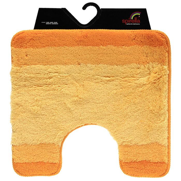 Коврик Balance, цвет: оранжевый, 55 х 55 см41619Коврик для ванной комнаты Balance выполнен из акрила высокого качества. Прорезиненная основа коврика позволяет использовать его во влажных помещениях, предотвращает скольжение коврика по гладкой поверхности, а также обеспечивает надежную фиксацию ворса. Коврик добавит тепла и уюта в ваш дом. Хорошо переносит машинную стирку и отжим в центрифугах, а также подходит для полов с подогревом. Характеристики:Материал: 100% акрил. Размер:55 см х 55 см. Производитель: Швейцария. Изготовитель: Китай. Артикул: 1009223.
