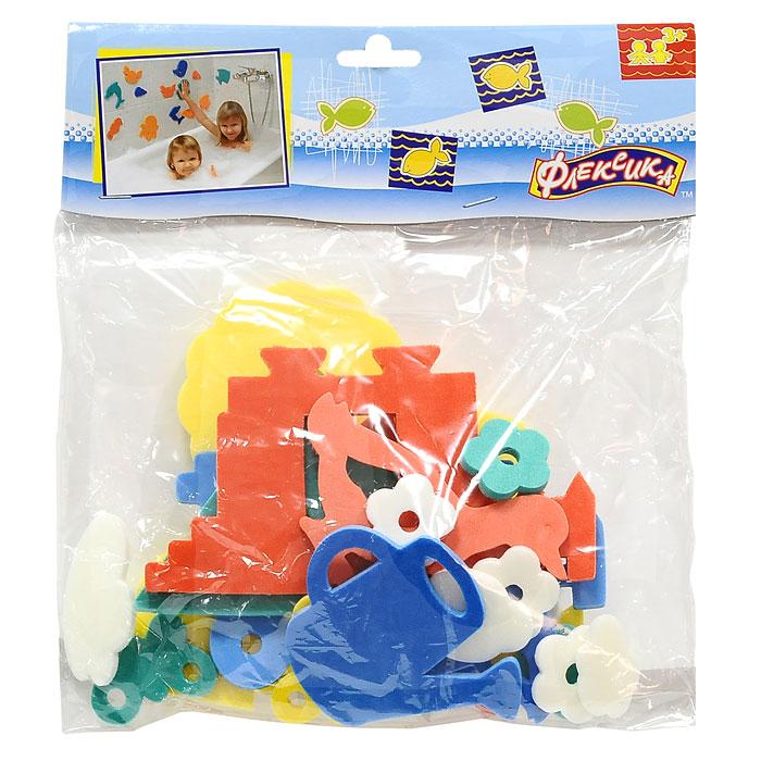"""Мягкая мозаика """"Деревня"""" состоит из мягких разноцветных элементов, выполненных из современного, легкого, эластичного материала, который обеспечивает большую долговечность и является абсолютно безопасным для детей. Благодаря особой структуре материала и свойству прилипать к мокрой поверхности, мозаика является идеальной игрушкой для ванны и сделает процесс купания приятной забавой для ребенка. Мозаика способствует развитию у ребенка мелкой моторики, образного и логического мышления и наблюдательности."""