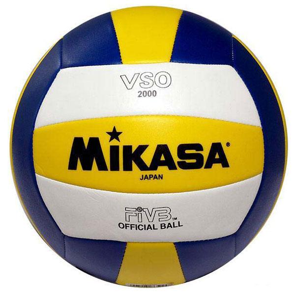 Мяч волейбольный Mikasa VSO2000VSO2000Мяч волейбольный Mikasa VSO2000 - любительский мяч для начинающих волейболистов и любителей.Логотип FIVB Official - официальный стандарт FIVB для волейбольных мячей. Характеристики:Размер: 5.Материал: синтетическая кожа.Артикул: VSO2000.Производитель: Тайланд. Волейбольные мячи Mikasa - официальные мячи всех международных встреч, проводимых Международной федерацией волейбола (FIVB), включая все Олимпийские игры с 1968 года. Мячами Mikasa пользуются 320 национальных федераций волейбола во всем мире. Mikasa - официальный мяч Олимпиады 2004 и 2008 годов по таким дисциплинам, как классический и пляжный волейбол.