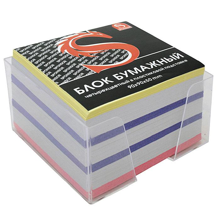"""Бумага для записей """"Sponsor"""" - необходимый настольный аксессуар делового человека. Блок состоит из листов разноцветной бумаги, что помогает лучше ориентироваться во множестве заметок. Бумага хранится в прозрачной пластиковой подставке."""