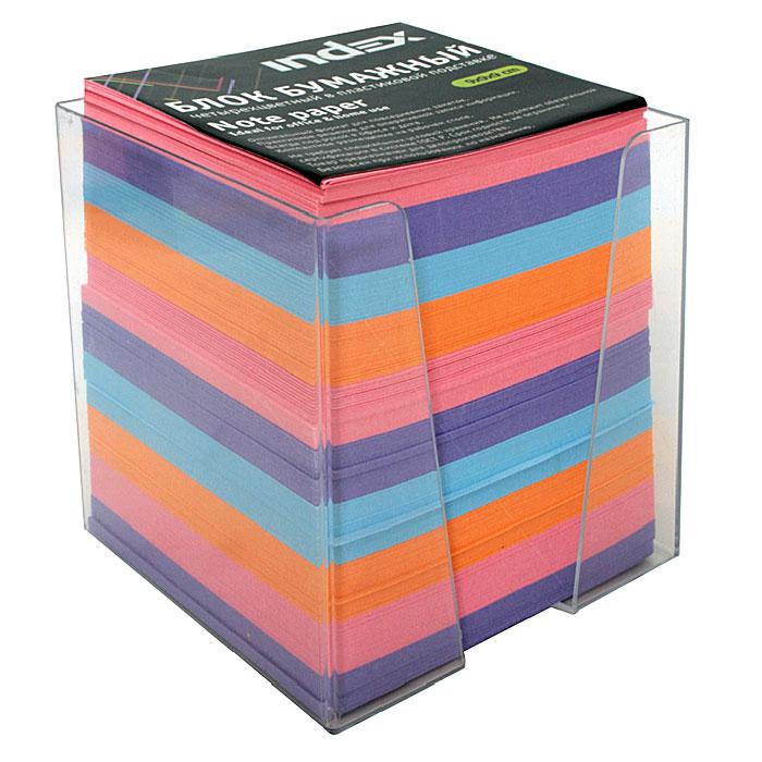 """Бумага для записей """"Index"""" - практичное решение для оперативной записи информации в офисе или дома. Блок состоит из листов разноцветной бумаги, что помогает лучше ориентироваться во множестве повседневных заметок. А яркий блок-кубик на вашем рабочем столе поднимет настроение Вам и Вашим коллегам! Бумага хранится в прозрачной пластиковой подставке."""