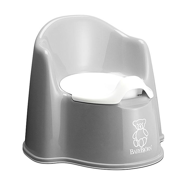 """Ваш малыш будет в восторге от горшка-кресла """"BabyBjorn"""", ведь это личный маленький туалет. Специальный дизайн спинки, высокие и удобные подлокотники позволяют ребенку комфортно сидеть так долго, как это необходимо. Внутренняя часть горшка легко вынимается и моется отдельно. По анатомической форме подходит как девочкам, так и мальчикам. Особенности детского горшка-кресла """"BabyBjorn"""": высокая и удобная спинка; удобные подлокотники; достаточное пространство для ног; действенная защита от брызг предотвращает ненужное разбрызгивание; устойчиво стоит на месте благодаря резиновым планкам; прочная пластмасса, которая поддается утилизации."""