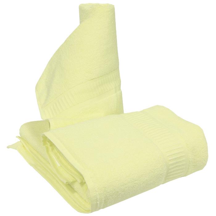 Набор полотенецMикрокоттон, цвет: лимонный, 2 шт68/5/4Набор полотенец Mикрокоттон, изготовленных из 100% хлопка, подарит вам мягкость и необыкновенный комфорт в использовании. Набор изготовлен из рассеченного микроволокна, состоящего из хлопковых нитей высокого качества, и произведенного по новейшим технологиям. Качественная пушистая петля образует плотный застил, что обеспечивает изделию высокий уровень влагопоглощения. Благодаря особой технологии полотенце производит нежный пилинг и эффективный массаж кожи.Набор полотенец, моментально впитывающее влагу, будет незаменим для людей, которые поддерживают здоровый образ жизни. Молодые родители оценят его необыкновенную мягкость. Полотенца из рассеченного микроволокна характеризуется повышенной износостойкостью. Оно уютное, комфортное и очень красивое! Характеристики: Материал: 100% хлопок.Размеры:50 см х 90 см, 70 см х 140 см.Плотность:480 г/м2.Цвет:лимонный.Комплектация:2 шт.Размер упаковки:37 см х 26,5 см х 8 см. Изготовитель:Китай. ТМ Primavelle - качественный домашний текстиль для дома европейского уровня, завоевавший любовь и признательность покупателей. ТМ Primavelleрада предложить вам широкий ассортимент, в котором представлены: подушки, одеяла, пледы, полотенца, покрывала, комплекты постельного белья.ТМ Primavelle- искусство создавать уют. Уют для дома. Уют для души.