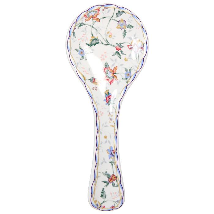 Подставка под ложку Imari БукингемВетерок 2ГФПодставка под ложку Букингем изготовлена из высококачественной керамики и оформлена цветочным узором.Подставка станет отличным дополнением к вашему кухонному инвентарю, а также украсит сервировку стола и подчеркнет прекрасный вкус хозяина. Характеристики: Материал:керамика. Диаметр: 10 см. Общая длина: 25 см. Размер упаковки: 25,5 см х 10,5 см х 2,5 см. Производитель: Китай. Артикул: IMF0304-A218AL.