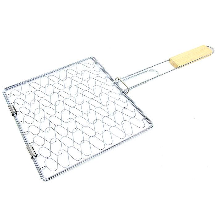 Решетка-гриль Top-style, эластичная, 25 смх 28 смWRA523700Решетка эластичная предназначена для запекания мяса, птицы, рыбы, овощей. Решетка изготовлена из хромированной стали и идеально подходит для мангалов и барбекю.Решетка имеет фиксирующее кольцо на ручке, что обеспечивает надежную фиксацию, эластичные свойства решетки позволяют подстраиваются под объем продукта, а деревянная ручка предохраняет руки от ожогов и удобна для обхвата двумя руками. Характеристики: Материал:сталь, дерево. Размер решетки:25 см х 28 см. Длина ручки:30 см. Производитель: Бельгия. Артикул: 2022-BBQ.