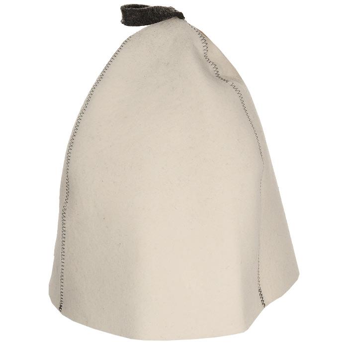 Шапка для бани и сауны Трехклинка, цвет: белый. Б4542787502Шапка для бани и сауны это незаменимый аксессуар для любителей попариться в русской бане и для тех, кто предпочитает сухой жар финской бани. Шапка Трехклинка- традиционная финская модель шляпы для бани. Любители бани оценят удобную форму шапки, т.к. большой размер изделия позволяет отгибать поля и регулировать форму шапки по своему вкусу и удобству.Шапка защитит вас от появления головокружения в бани, ваши волосы от сухости и ломкости, а голову от перегрева.Такая шапка станет отличным подарком для любителей отдыха в бане или сауне. Характеристики: Материал: мериносовая шерсть (фетр). Диаметр основания шапки: 37 см. Высота шапки: 29 см. Производитель: Россия. Артикул: Б4542.