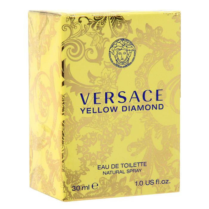 Versace Yellow Diamond. Туалетная вода, 30 мл1301210Это роскошный аромат от Versace. Подобный солнечному свету, необыкновенно яркий, лучистый желтый сверкает так, как способен только настоящий бриллиант. Чистая чувственность, чистая прозрачность, чистый свет. Еще одна настоящая драгоценность редкой красоты раскрывается в свежем и ярком цветочном аромате; пленительный и волнующий аромат для истинной женственности, уверенной в своем шарме, гармонирует с безошибочно узнаваемым стилем Versace.Верхняя нота: Лимон из Диаманте, Бергамот, Грушевый сорбет, Нероли.Средняя нота: Белая водяная лилия, Фрезия, Цветы апельсина, Мимоза.Шлейф: Амбровое дерево, Древесина пало санто, Мускус.Цветочный фруктовый древесный.Подобный солнечному свету, необыкновенно яркий и лучистый, он сверкает так, как способен только настоящий бриллиант. Чистая чувственность, чистая прозрачность, чистый свет. Пленительный и волнующий аромат для истинной женщины, уверенной в своем шарме, гармонирует с безошибочно узнаваемым стилем Versace.