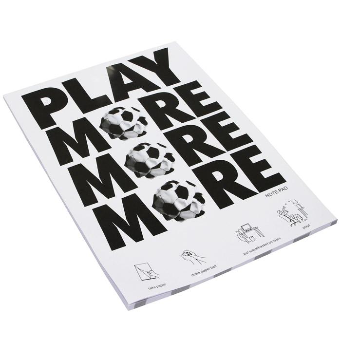 Блокнот Play More Футбол, 40 листовIBO118/7Оригинальный блокнот Play More Футбол послужит прекрасным местом для памятных записей, любимых стихов и многого другого. Внутренний блок выполнен из линованной бумаги, а его страницы стилизованы под футбольный мяч. Такой блокнот вызовет улыбку у каждого, кто его увидит, а также станет отличным подарком для ваших близких и друзей. Характеристики: Материал: бумага. Размер блокнота: 26 см х 18,7 см х 0,5 см. Количество листов: 40 листов. Производитель: Китай.