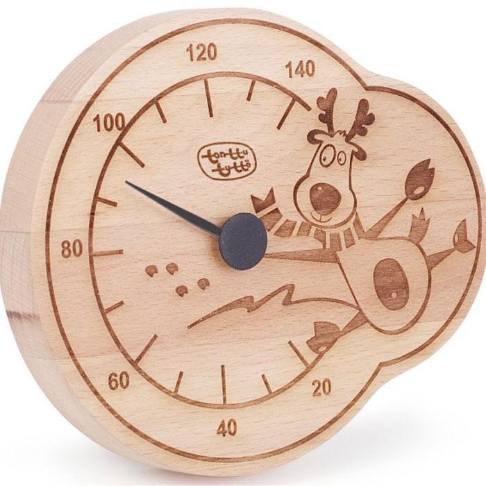 Термометр для бани и сауны Tapio (Тапио). 260531-402Термометры серии Tapio (Тапио) выполнены из древесины бука, обладающего притягательным розоватым цветом, ее плотность прекрасно переносит перепады температуры, что увеличивает срок службы изделий. Созданные для контроля оптимальной температуры в бане и сауне, они задают стиль банного интерьера.Стрелка механизма меняет настроение озорных персонажей термометров в зависимости от температуры. Максимальная измеряемая температура - 140 градусов. Характеристики: Размер термометра: 13,5 см х 16 см. Материал: дерево, металл. Производитель: Россия. Артикул: 260.
