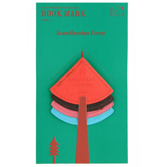 """Оригинальная закладка для книги """"Елочка"""" - великолепный подарок для тех, кто не мыслит свою жизнь без книг. Закладка выполнена в виде уголка с кармашком. Такая закладка подарит хорошее настроение своему обладателю."""