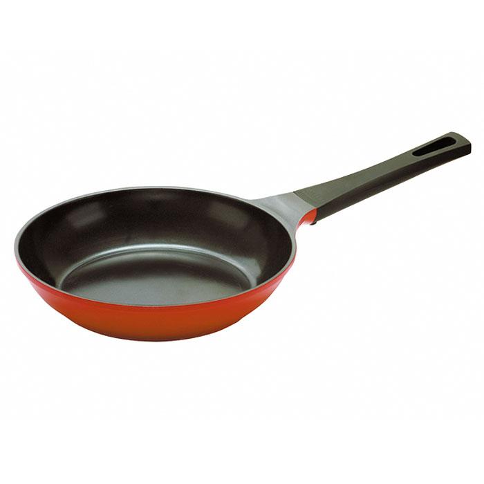 Сковорода Frybest Orange, 24см, цвет:оранжевый/темное внутр. покрытие ORCA-F24391602Сковорода Frybest изготовлена по новейшей технологии из литого алюминия с керамическим антипригарным покрытием Ecolon, в производстве которого используются природные материалы безопасные для здоровья. Благодаря специальному утолщенному дну, сковорода равномерно распределяет тепло. Непревзойденная прочность сковороды и устойчивость к царапинам позволяет использовать металлические аксессуары при приготовлении пищи, а эргономичная удлиненная ручка с силиконовым покрытием soft-touch, имеет оригинальное технологическое крепление к телу сковороды и всегда остается холодной.Сковорода подходит для электрической, стеклокерамической, газовой игалогеновой плиты.Мощная основа из литого алюминияСпециальное утолщенное дно для идеальной теплопроводностиЭргономичная, удлиненная soft-touch ручка всегда остается холоднойКерамическое антипригарное покрытие позволяет готовить практически без маслаКерамика как внутри, так и снаружи. Легко готовить — легко мытьНепревзойденнаяпрочность и устойчивость к царапинам. Можно использовать металлические аксессуарыПоследнее корейское НОУ-ХАУ — слой анионов (отрицательно заряженных ионов), обладающих антибактериальными свойствами. Они намного дольше сохраняют приготовленную пищу свежейСостоит из натуральных материалов, не выделяет вредных химических веществ впроцессе готовки Характеристики: Материал: алюминий, керамика, силикон.Диаметр: 24 см.Высота стенки:5,5 см.Длина ручки:20 см.Артикул: ORCA-F24.Производитель:Южная Корея.