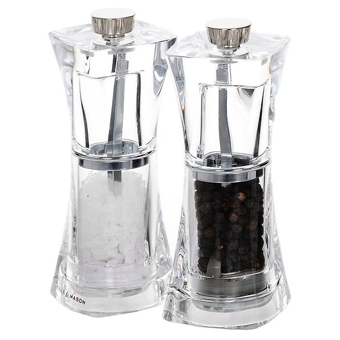 Набор для специй Crystal, 2 предметаАн 0/5985Набор для специй Crystal изготовленный из пластика, состоит из двух мельниц. Мельницы легки в использовании, стоит только покрутить верхнюю часть, и вы с легкостью сможете поперчить или посолить по своему вкусу любое блюдо. Соль и перец входят в комплект. Характеристики: Материал: пластик, сталь. Высота емкостей: 12,5 см. Размер основания емкости: 5 см х 5 см. Размер упаковки: 10,5 см х 13 см х 5,5 см. Производитель: Великобритания. Артикул: H374080.