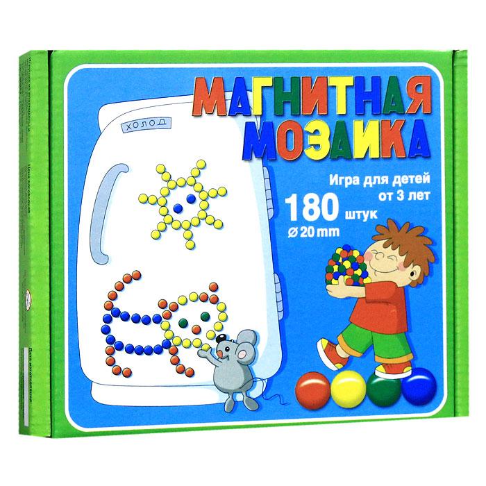 Магнитная мозаика - это одновременно увлекательная и развивающая игра для детей 3-х лет и старше. Набор крупных пластмассовых деталей разнообразных геометрических форм и цветов побуждает ребенка к творчеству и созданию множества сюжетных картинок. Игра в мозаику доставит большое удовольствие Вашему малышу, познакомит его с геометрическими фигурами, поможет развить мелкую моторику рук, усидчивость, художественное воображение и творческие навыки. Рисунки, представленные на упаковке, являются только примером, так как эта мозаика раскрывает перед ребенком неограниченные возможности моделирования и фантазии в создании своих рисунков. В комплект игры магнитная доска не входит.