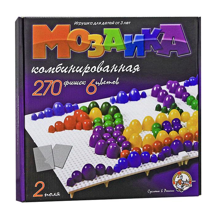 Мозаика - увлекательная развивающая игра для ваших детей. Она разовьет у ребенка творческие способности, воображение, координацию движений, мелкую моторику рук и ориентировку на плоскости. В комплект входит 270 фишек шести цветов, 2 игровых поля и три фишки для соединения полей. Рисунки, представленные на упаковке, являются только примером, так как эта универсальная мозаика раскрывает перед ребенком неограниченные возможности моделирования и создания множества своих собственных рисунков.