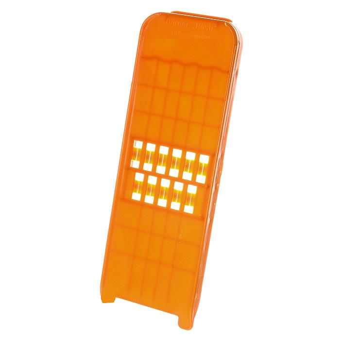 Овощерезка пицца-грейтер Borner Classic, цвет: оранжевый 114114Овощерезка пицца-грейтер будет отличным помощником на вашей кухне, особенно для любителей пиццы, картофельно-сырной запеканки и селедки под шубой. Это овощерезка имеет ударопрочный пластмассовый корпус с острыми двухсторонними ножами.Виды нарезки:длинная, плоская, тонкая, но широкая стружка-лапша - для нарезки сыра и любых овощей;крупная стружка для любых овощей нарезаемых поперек длины.Приятная деталь - у овощерезки нет металлических ножей, а вареные овощи не прилипают к пластмассовой терке. Характеристики: Материал: пластик. Цвет: оранжевый. Размер: 27 см х 10 см х 1,4 см. Размер упаковки: 31,5 см х 10,3 см х 2,3 см. Производитель: Германия.