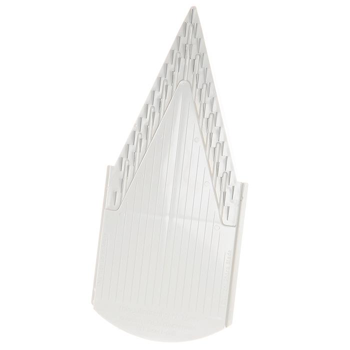 Вставка к овощерезке Borner Trend, цвет: белый, 1,6 мм 118/3118Дополнительная вставка для овощерезки выполнена в виде V-образной рамы с ножами 1,6 мм из пластика и металла. Вставка подходит для нарезки любых овощей и фруктов на тонкую и длинную соломку, мелкие кубики.Характеристики: Материал: пластик, металл. Цвет: белый. Размер: 22 см х 9,7 см. Длина ножей: 1 см. Высота ножей: 1,6 мм - 4 мм. Размер упаковки: 26 см х 10 см х 2 см. Производитель: Германия. Артикул: 118/3.