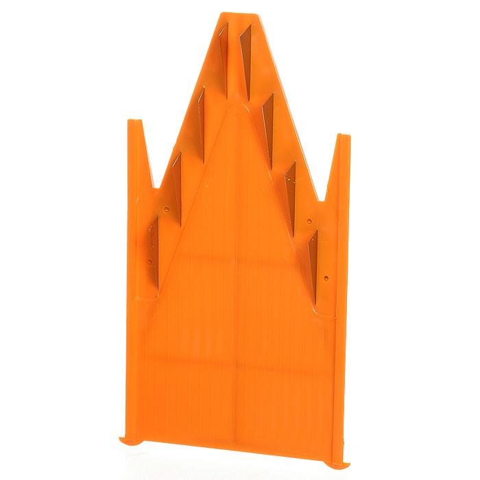 Вставка к овощерезке Borner Classic 10 мм 119119Дополнительная вставка для овощерезки выполнена в виде V-образной рамы с ножами 10 мм из пластика и металла. Вставка подходит для нарезки любых овощей и фруктов на длинные или короткие брусочки, крупные кубики. Характеристики: Материал: пластик, металл. Цвет: оранжевый. Размер: 18,5 см х 9,7 см. Длина ножей: 3 см. Высота ножей: 10 мм. Размер упаковки: 26 см х 10 см х 2 см. Производитель: Германия. Артикул: 119.