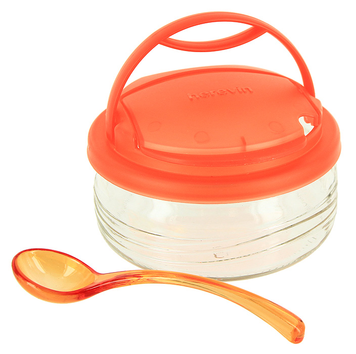 Сахарница Vera, с ложечкой, цвет: оранжевый, 410 млLUISA218W milkСахарница Vera с крышкой и ложкой сочетает в себе оригинальный дизайн с максимальной функциональностью.Сахарница выполнена из стекла, а крышка и ложка - из пластика. Крышка имеет специальный клапан, который поднимается, и вы с легкостью можете насыпать сахар, не снимая крышку целиком. Также крышка имеет удобную ручку. Изящный дизайн и красочность оформления придутся по вкусу и ценителям классики, и тем, кто предпочитает утонченность и изысканность. Характеристики: Материал: стекло, пластик. Диаметр сахарницы: 11,4 см. Объем сахарницы: 410 мл. Высота сахарницы (без учета крышки): 5,5 см. Длина ложки: 13 см. Размер упаковки: 12 см х 12 см х 8,5 см. Производитель: Турция. Артикул: S131555.