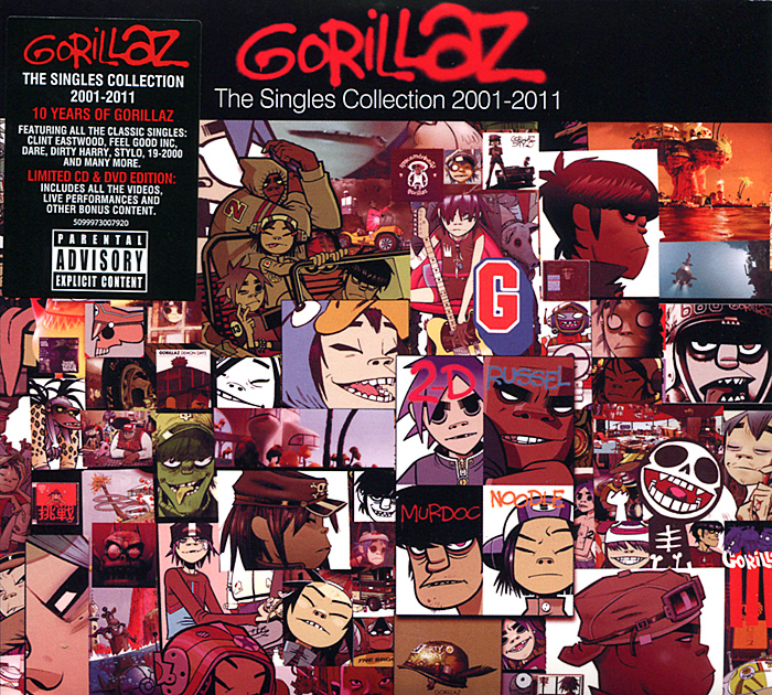 Gorillaz Gorillaz. The Singles Collection 2001-2011 (CD + DVD) skmei brand women quartz watches fashion casual ladies watch waterproof leather wristwatches montre femme relogio feminino 9162