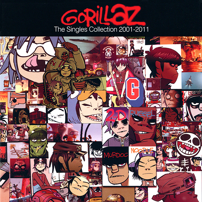 Gorillaz Gorillaz. The Singles Collection 2001-2011 phil collins singles 4 lp