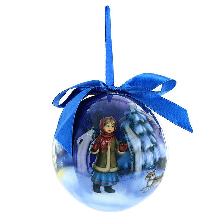 Новогоднее подвесное украшение Серебрянное копытцеNLED-454-9W-BKНовогоднее подвесное украшение Серебрянное копытце отлично подойдет для декорации вашего дома и новогодней ели. Украшение изготовлено из ПВХ и выполнено в виде елочного шара, оформленного изображением по мотивам сказки Серебрянное копытце. Благодаря атласной ленточке, украшение можно повесить в любом месте. Оригинальный дизайн и красочное исполнение создадут праздничное настроение. Подвесное украшение упаковано в стильную подарочную коробку. Характеристики: Материал:ПВХ, текстиль.Диаметр украшения:10 см.Размер упаковки:11 см х 14 см х 11 см.Изготовитель:Китай.Компания Незабудка занимается продажей новогодних украшений и детских игрушек. Большинство украшений сделано по собственным дизайн - проектам. Шары, луковки, сосульки, выполненные какв классических расцветках, так и в современных дизайнерских решениях - великолепные цветочные орнаменты, с иллюстрациями к русским сказкам. В ассортименте компании так же представлены украшения для комнатных елей, праздничного убранства офисов, крупные игрушки для больших елей и оформления торговых центров. Эти украшения изготовлены из современных экологически безопасных искусственных материалов.