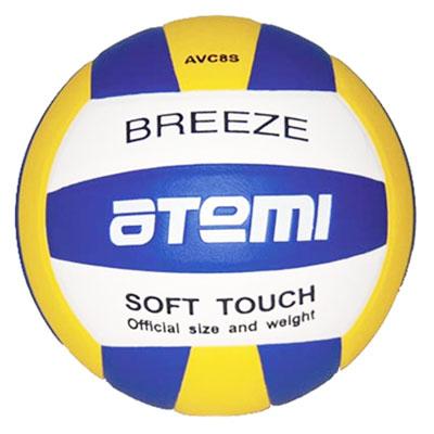Мяч волейбольный Breeze. Цвет: синий, жёлтый, белый. AVC8SBREEZEВолейбольный мяч Breeze выполнен из синтетической кожи Super Top PU и имеет латексную камеру с добавлением бутила. Клееный волейбольный мяч предназначен для тренировок начинающих игроков, школьных тренировок и для игры в зале. По весу и размеру волейбольные мячи ATEMI соответствуют стандартам Международной Федерации Волейбола (FIVB). Характеристики:Длина окружности: 65-67 см.Вес мяча: 260-280 г.Рекомендуемое давление: 0,6-0,8 БАР.Материал: синтетическая кожа Super Top PU.Камера: латекс, бутил.Артикул: AVC8S.Производитель: Китай.Мяч поставляется в сдутом виде. Насос в комплект не входит.