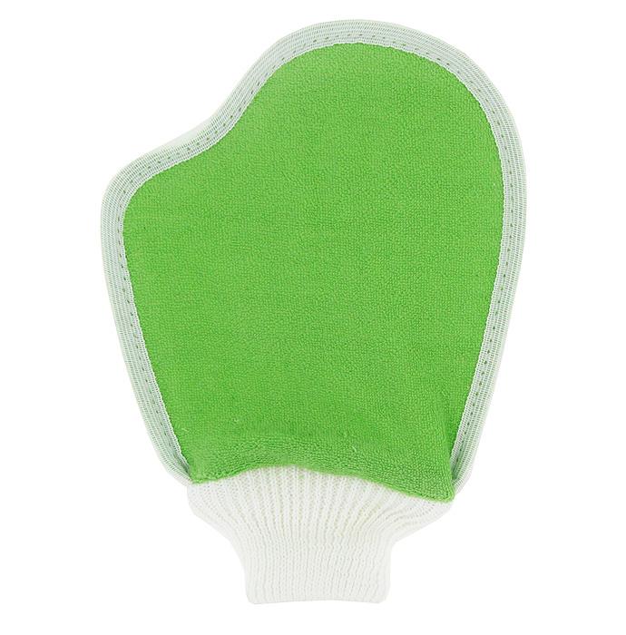 Мочалка Eva Варежка, из люфы, цвет: белый, зеленый, 17 х 23 см5010777142037Мочалка Eva Варежка, выполненная в виде варежки, станет незаменимым аксессуаром ванной комнаты. Мочалка отлично пенится и быстро сохнет.Одна сторона мочалки изготовлена из плодов люфы, благодаря чему она сохраняет все ценные свойства этого растения. Мочалка со средним уровнем жесткости обладает массажным эффектом, она эффективно тонизирует и очищает кожу. Идеальна для профилактики и борьбы с целлюлитом. Подходит для всех типов кожи. Не вызывает аллергии.