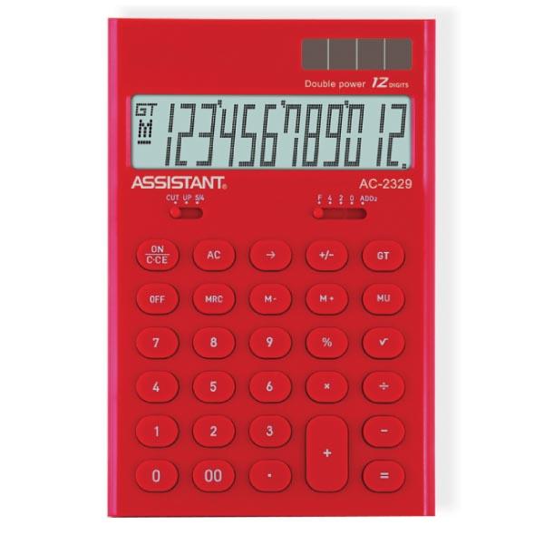 Калькулятор Assistant AC-2329, 12-разрядный, цвет: красныйFS-00103Стильный настольный калькулятор в ярком цветном корпусе с круглыми чувствительными кнопками оснащен большим 12-разрядным матричным дисплеем. Позволяет вычислять проценты, подсчитывать итоговую сумму вычислений. Калькулятор имеет двойную систему питания: от солнечного элемента и от батареи, - что гарантирует ему бесперебойную работу на несколько лет. Память,12-ти разрядный дисплей,Вычисление процентов,Вычисление квадратного корня, Цветной пластиковый корпус,Двойное питание, Пластиковые кнопки, Итоговая сумма,Удаление последнего введенного символа.Характеристики: Размер калькулятора: 16,5 x 10,8 x 2,6 см. Размер дисплея: 9,1 см х 2,6 см. Цвет: красный. Изготовитель: Китай.