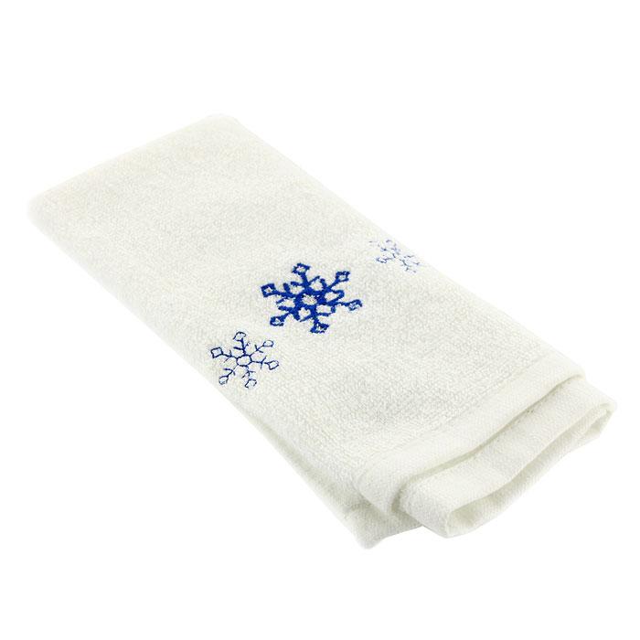 Полотенце махровое Снежинка, цвет: белый, 30 см х 50 см68/5/2Махровое полотенце Снежинка белого цвета, оформленное оригинальной новогодней вышивкой, отлично впишется в праздничный интерьер кухни и создаст хорошее настроение. Изделие выполнено из натурального хлопка, поэтому оно хорошо впитывает влагу. Такое полотенце подарит вам необыкновенную мягкость и комфорт в использовании. Характеристики: Материал:100% хлопок. Размер полотенца:30 см х 50 см. Цвет:белый. Изготовитель:Китай. Артикул:S3050.
