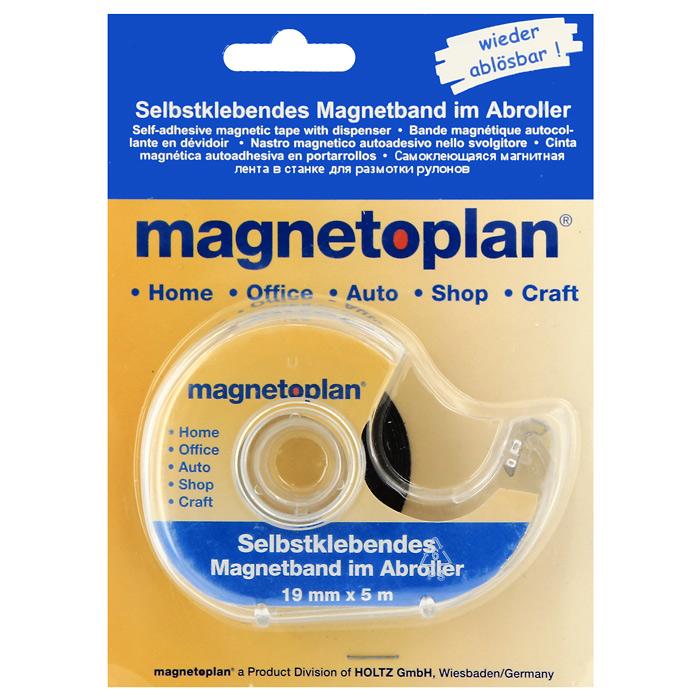 """Самоклеящаяся магнитная лента """"Magnetoplan"""" может быть полезна для быстрой и невидимой фиксации на металлической поверхности любых документов, плакатов, фотографий, напоминаний и т.д. Одна сторона полоски покрыта клеевым слоем, который позволяет не только с легкостью прикрепить ее к любому материалу, но и удалить, не оставляя никаких следов на документе. Поставляется в двусоставном диспенсере."""