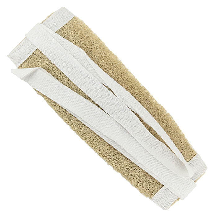 Мочалка натуральная с ручками Eva5010777139655Натуральная мочалка с ручками станет незаменимым аксессуаром ванной комнаты. Отлично пенится и быстро сохнет.Мочалка изготовлена из плодов люфы, благодаря чему она сохраняет все ценные свойства этого растения. Мочалка обладает массажным эффектом, она эффективно тонизирует и очищает кожу. Идеальна для профилактики и борьбы с целлюлитом. Подходит для всех типов кожи. Не вызывает аллергии. Характеристики: Материал: люфа. Размер мочалки (без учета ручек): 10 см х 28 см. Длина ручек: 27 см.Уровень жесткости: средний. Производитель: Россия. Артикул: М-211.