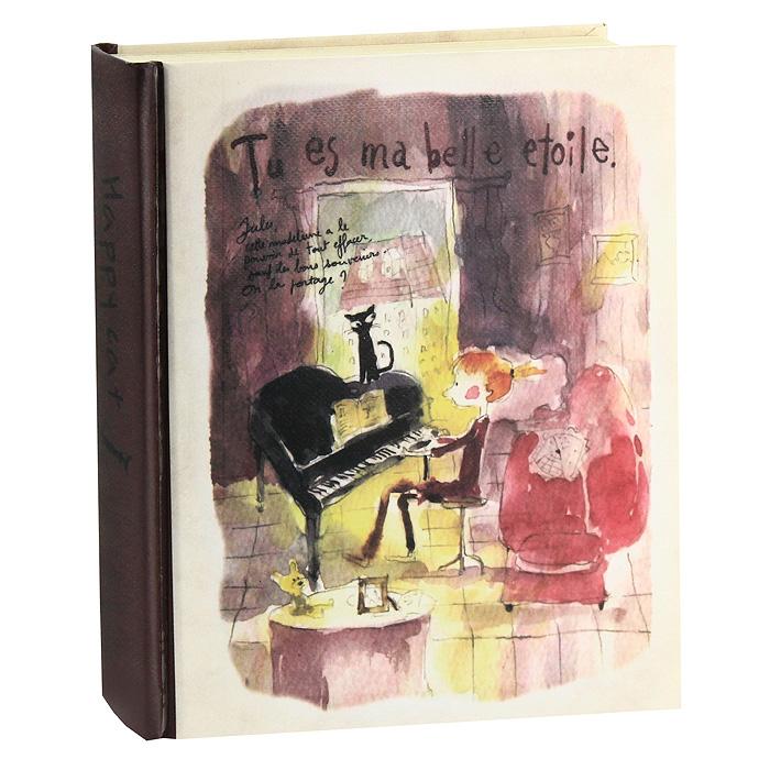 """Стильный ежедневник """"Tu es ma belle etoile"""" в твердом переплете оригинального дизайна - яркий аксессуар человека, ценящего практичные и качественные вещи. Внутренний блок содержит листы для планирования по дням недели, нелинованные листы и листы в линейку. Страницы оформлены яркими рисунками, забавными надписями и фотографиями. В ежедневнике для удобства использования предусмотрено ляссе. Ежедневник """"Tu es ma belle etoile"""" - прекрасный подарок и незаменимый аксессуар современного человека."""