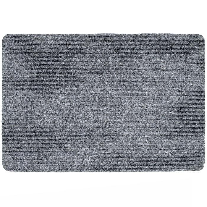 Коврик придверный Vortex Simple, цвет: серый, 50 х 80 см6009Придверный коврик Vortex Simple выполнен из полимерных материалов. Он прост в обслуживании, прочный и устойчивый к различным погодным условиям. Такой коврик надежно защитит помещение от уличной пыли и грязи.