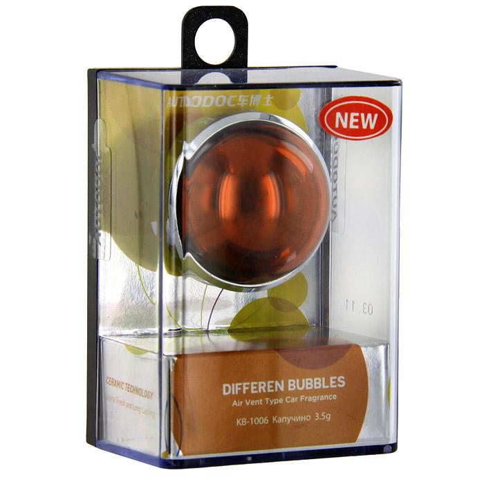 Освежитель воздуха на дефлектор Differen Bubbles. Капучино, 3,5 г221000Освежитель воздуха Differen Bubbles. Капучино предназначен на дефлектор обдува. Эффективно устраняет посторонние запахи и наполняет салон автомобиля неповторимым ароматом.Срок действия до 60 дней. Характеристики:Вес: 3,5 г. Аромат: капучино. Диаметр освежителя: 3,5 см. Размер упаковки: 7 см х 5 см х 3,7 см. Производитель: Китай. Артикул:KB-1006.